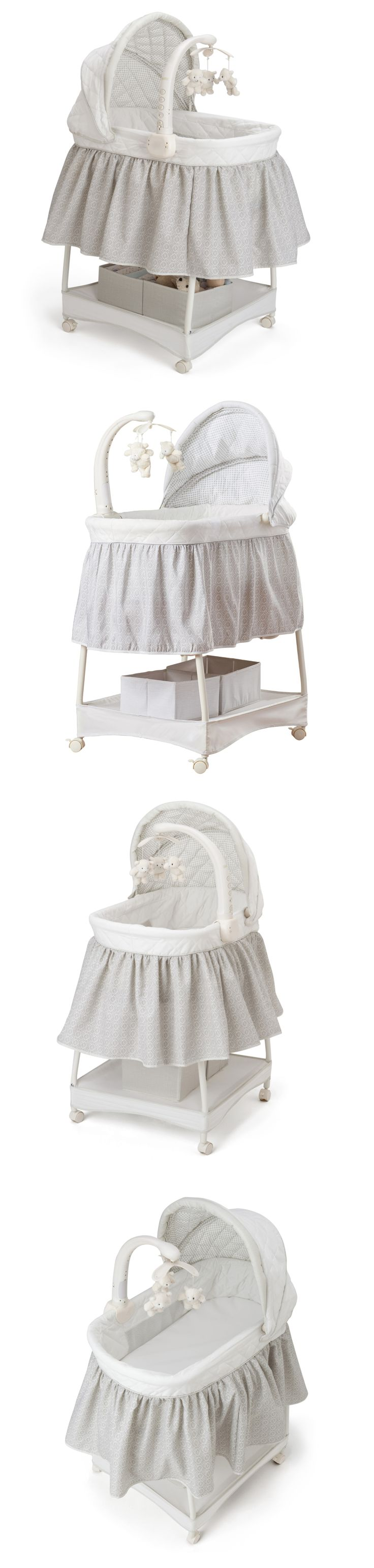 Baby Nursery: Baby Bassinet Crib Cradle Bed Portable Infant Nursery Sleeper Smooth Glide New -> BUY IT NOW ONLY: $130.49 on eBay!