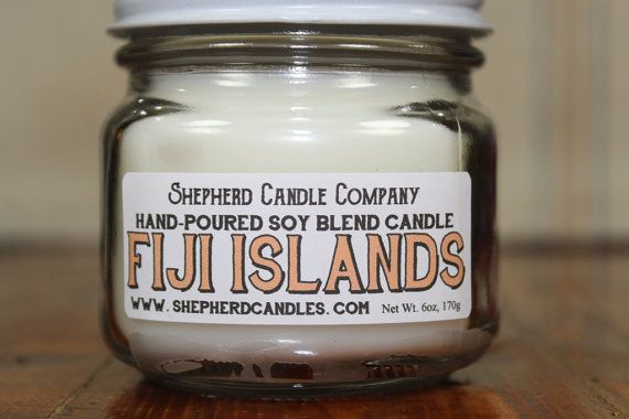 Tropical Scented Candle Fiji Islands Soy Blend Candle