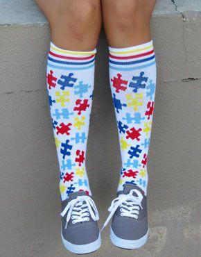 Autism Awareness Socks :: Socks :: SportsKatz   Girls Sports Apparel and Teamwear