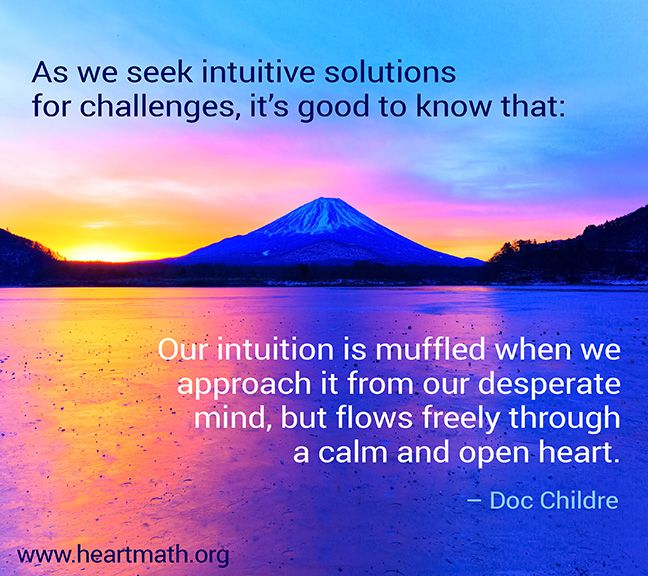 A calm and open heart unlocks our wisdom x