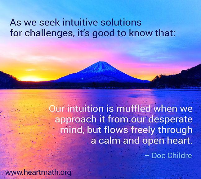 A calm and open heart unlocks our wisdom x