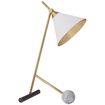 Visual comfort kelly wearstler cleo 19 inch 60 watt bronze and antique burnished brass table lamp portable light in white