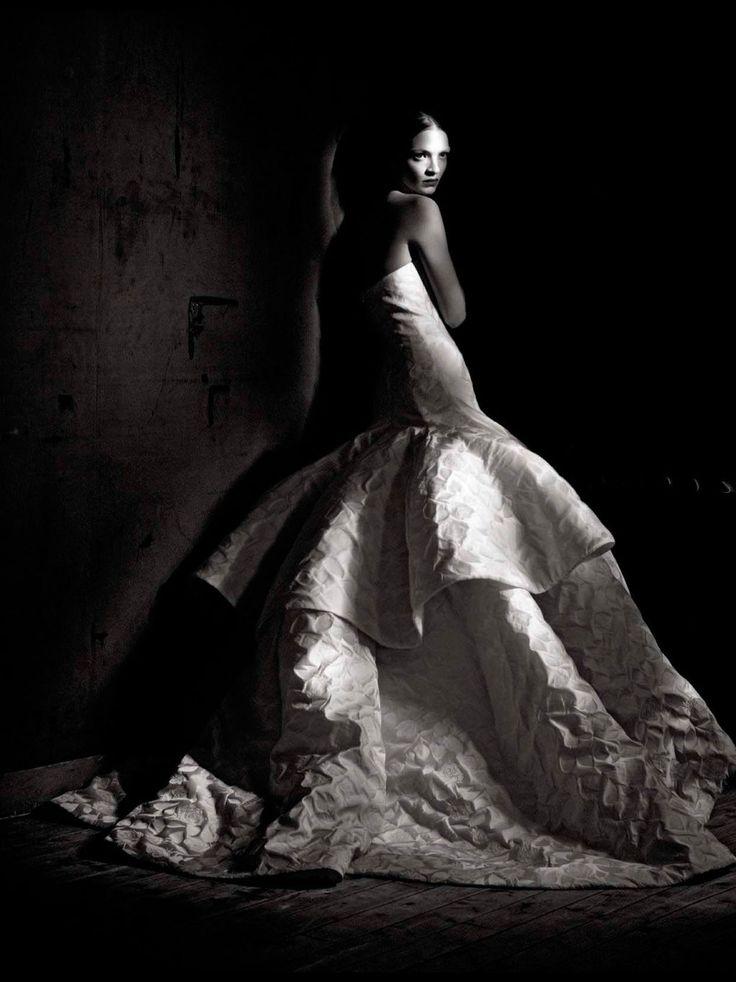 Mariacarla Boscono photographed by Paolo Roversi - Vogue Italia: March 2013 - Couture Allure