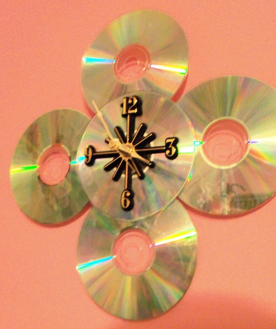 CD Clock by Meggyree on Etsy, $17.99
