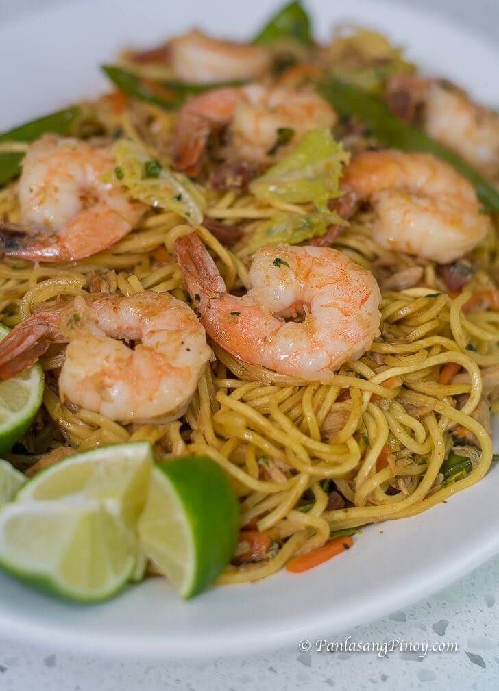 Shrimp And Chicken Pancit Canton Recipe Healthy Food Pinterest