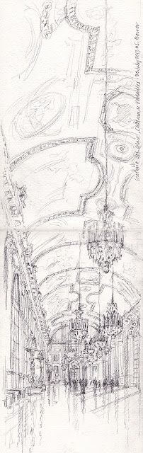 Drawing Perspectives: The Adventures of Sketching INSIDE Versailles