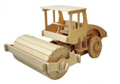 RoboTime - Drevená stavebnica - Valec na diaľkové ovládanie