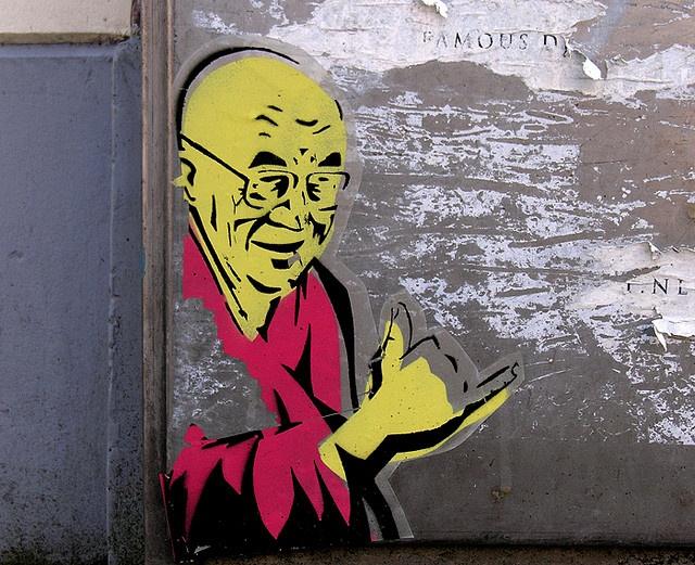Dalai Lama - street art