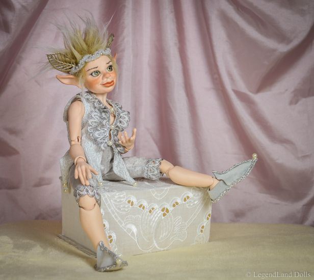 Rafael moveable porcelain doll. He is a One Of A Kind ball jointed fantasy doll for sale.