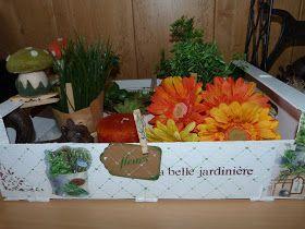 isabelvintage: Caja de fruta para macetas