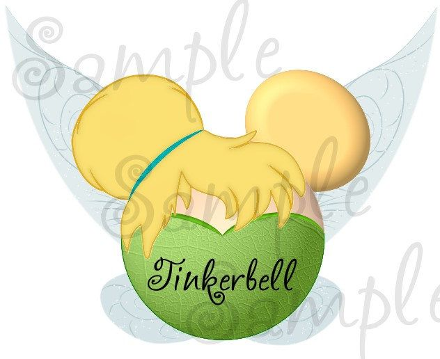 Tinkerbell fairy inspired character personalized printable digital file DIY. $2.00, via Etsy.