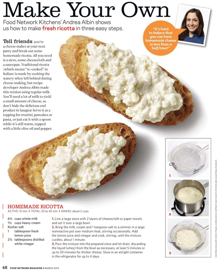 Make your own Ricotta | i want to eat THIS | Pinterest