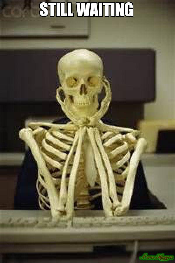 Image result for skeleton waiting