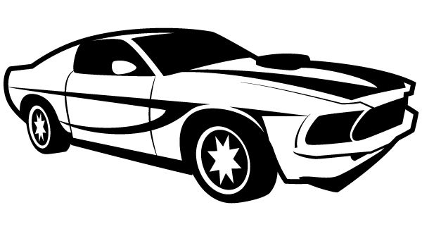 black sports car clipart - photo #6