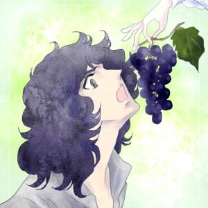 """Oscar: """"Your hair like black grapes..."""" from よろずらくがき帳"""