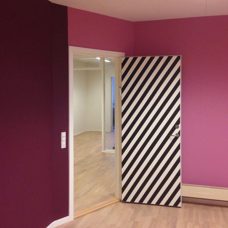 The entrance to a conferenceroom I have decorated. -Line Hvass