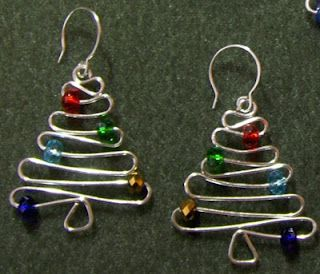 Wire Christmas Tree earrings/orniments