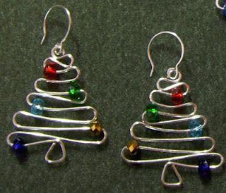 Wire Christmas Tree earrings/orniments
