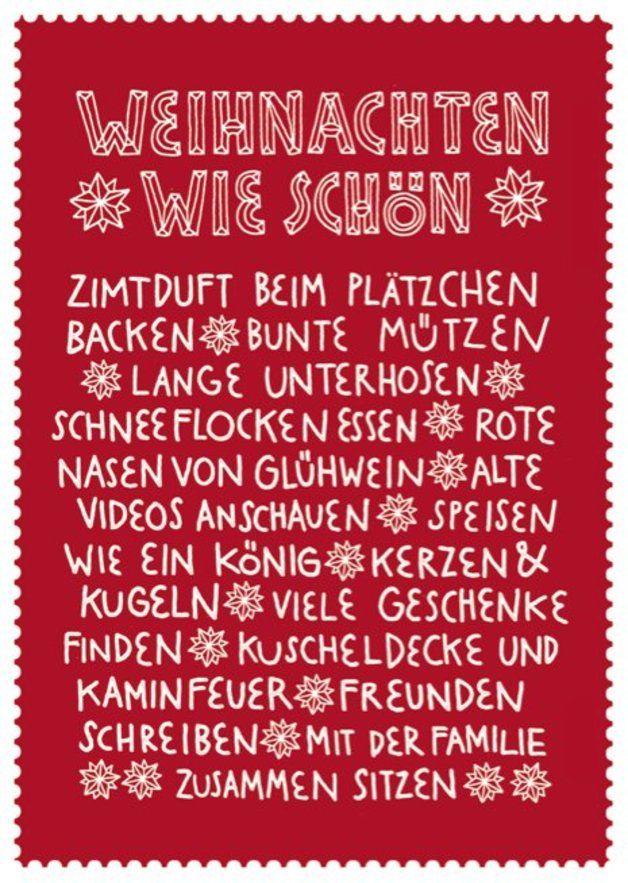 Postkarte Weihnachten wie schön // postcard christmas by LarifariLaden via dawanda.com