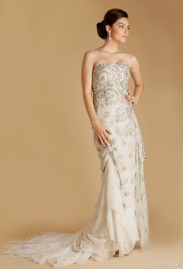 Indian english style wedding dresses