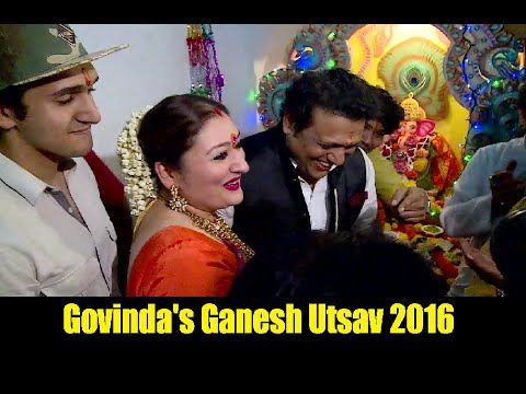 Govinda celebrates Ganesh Utsav 2016 with family.