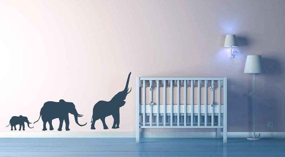 Elephants, Family, Circus - Decal, Sticker, Vinyl, Wall, Home, Nursery, Children's Bedroom Decor