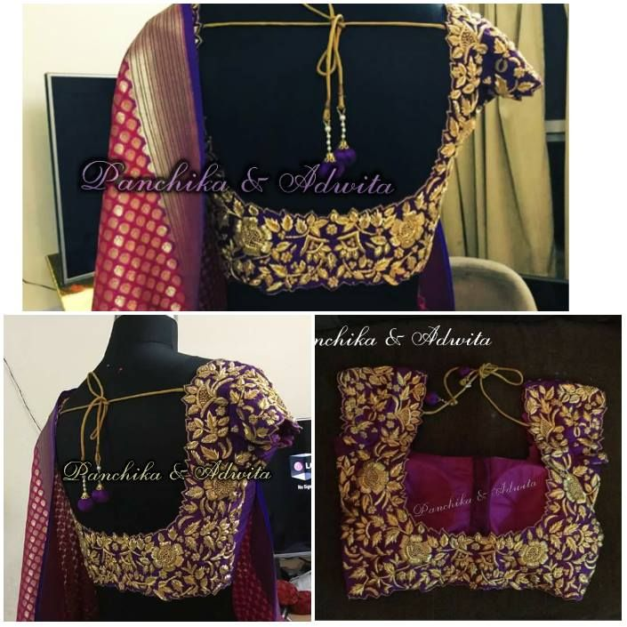 This beautiful bridal blouse is designed for Sruthi...  For details Call / watsapp Swathi +8179668098 05 April 2016