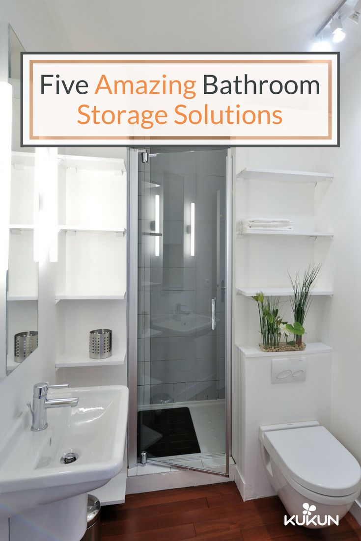Five Great Storage Solutions For Small Bathrooms