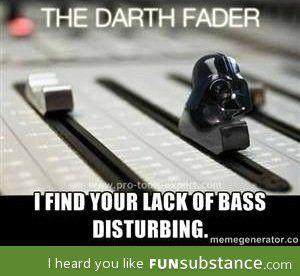 The darth Fader. #starwars #music