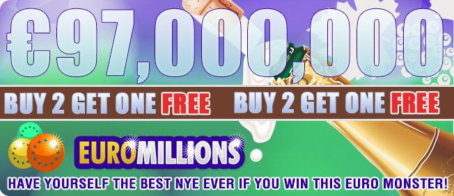 Buy 2 get 1 FREE for the EuroMillions on PlayLottoWorld.com today and tomorrow.