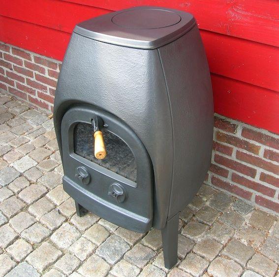 how to clean wood stove glass door