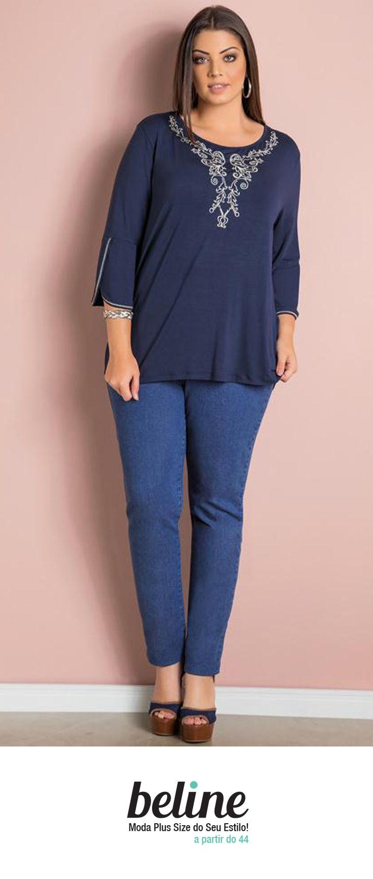 A blusa manga 7/8 é confortável, versátil e se adapta a diversas ocasiões. Muito parecida com a blusa de manga ¾, a blusa de manga 7/8 tem o comprimento maior nos braços. Ela é uma blusa de excelente caimento que formam diversos looks. Confira as mais belas blusas de manga 7/8 em: https://www.beline.com.br/roupas-femininas-plus-size/blusas-plus-size/blusas-moda-plus-size/blusa-manga-78-plus-size  #beline #plussize #blusaplussize #modaplussize #estiloplussize #eusouplus #meuestiloplussize