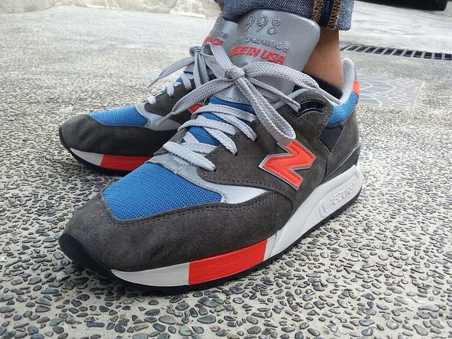 New Balance NB 998 x J.Crew dark military gray/blue/red Shoes Haven