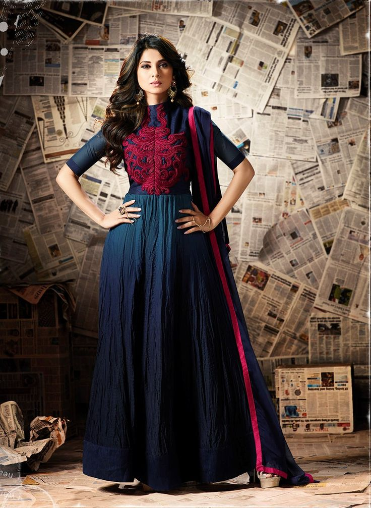#Theivoryneedle - Look gorgeously pretty in this royal blue stylish anarkali suit. Shop on: www.theivoryneedle.in #anarkalisuit #ethnic #elegance #trending #partywear #sarees #apparels #salwarkameez #fashionable #royalblue #Eid2017 #traditional #clothing