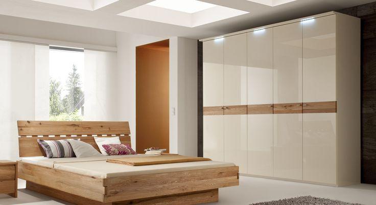 Schlafzimmerset im Landhausstil Weiß Kiefer massiv (4-teilig - schlafzimmer kiefer weiß