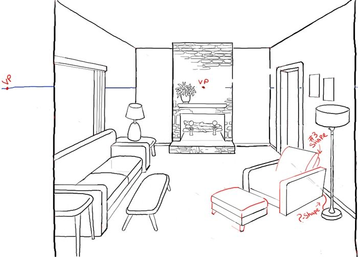 Living Room Drawing Easy Site About Home Room Perspective Drawing Perspective Drawing Lessons Room Perspective Drawing