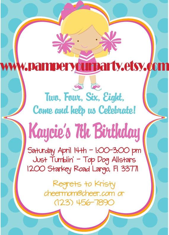 Best 25 Cheerleading Birthday Parties ideas – Cheerleading Party Invitations