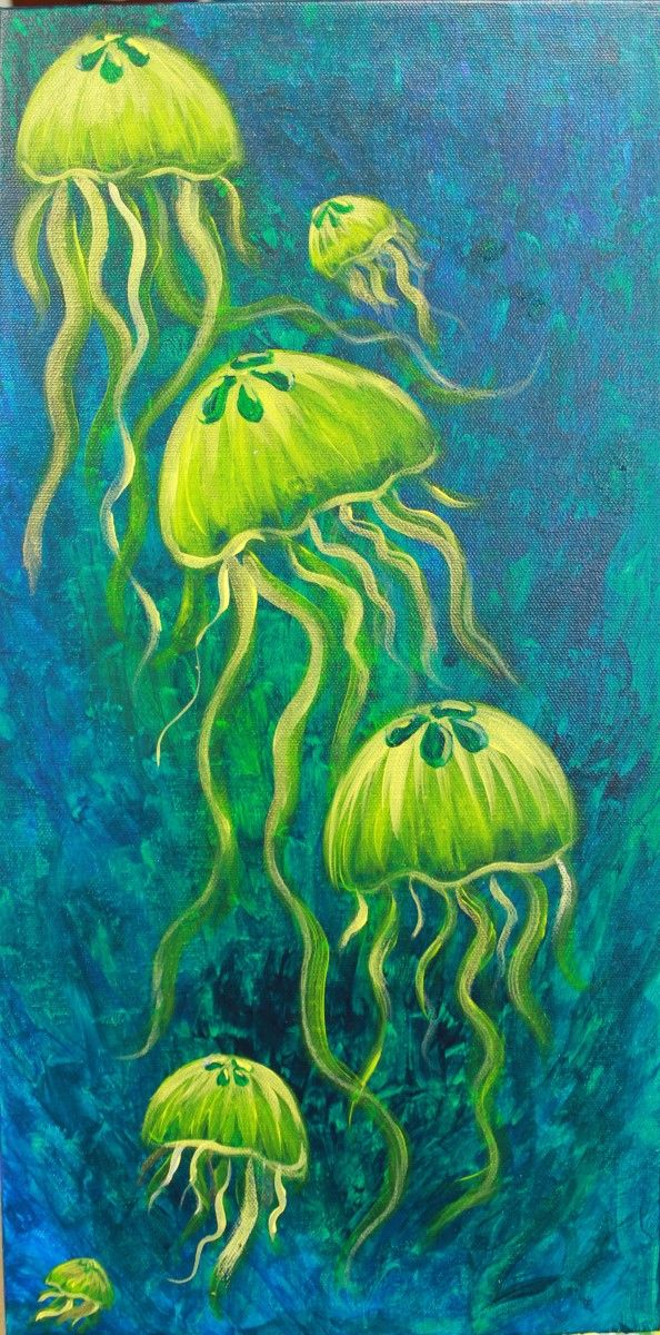 Jelllies - from Vino's Picasso • Acrylic Canvas Painting                                                                                                                                                                                 More