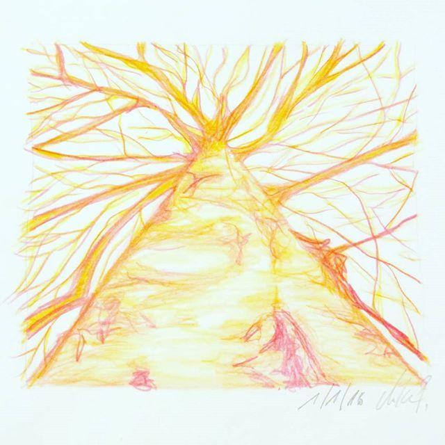 Frohes Neues zusammen! (Foto zum Baum im Feed von @bikelovin) #birke #kritzelnzwosechzehn #kritzeln #sketchbook #carandache #creativebug #cbdrawaday #tree