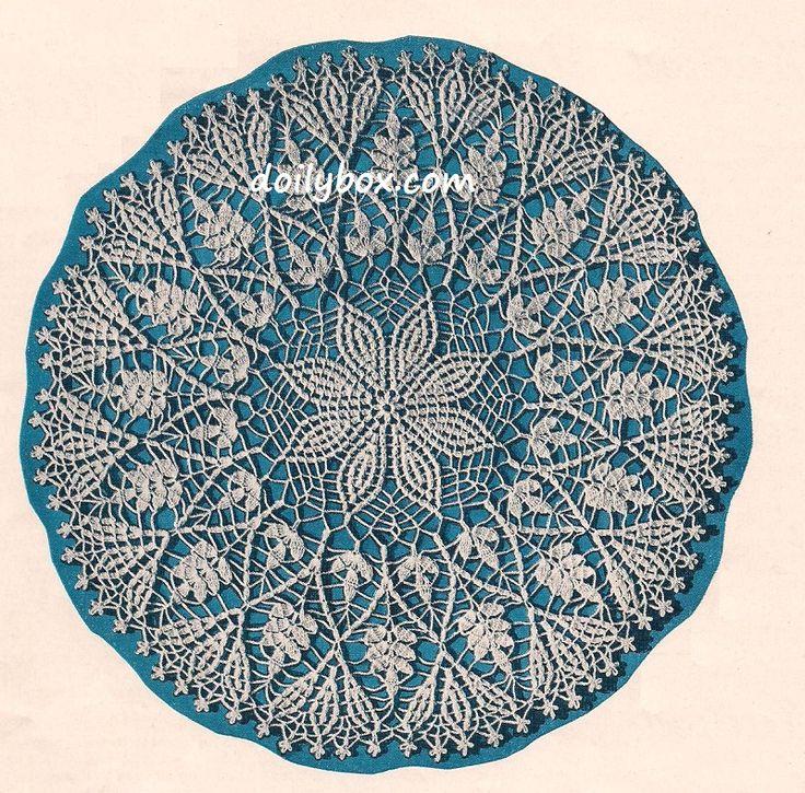 281 Best Crochet Doilies Images On Pinterest Crochet Doilies