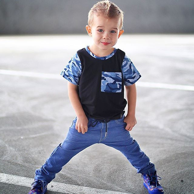 The end of another awesome weekend full of fashion  Handsome Jax wears The M-501 our ultra soft classic denim pants  soon follow> @mischiefandco < Tap link bio & shop online or google us #mischiefandco #kidsfashion #denimpants #pinterest  @jubilantjaxson