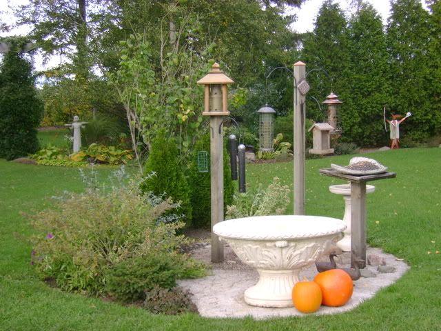 idea for backyard feeding station