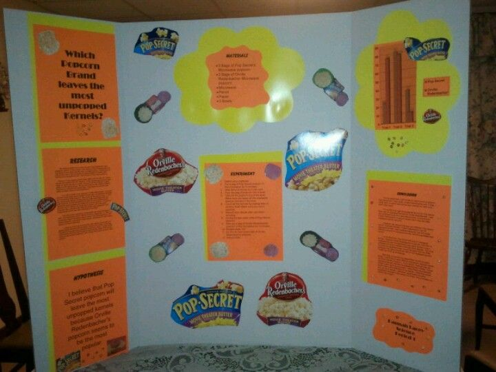 hannah s 8th grade science fair popcorn project fair projects crafts