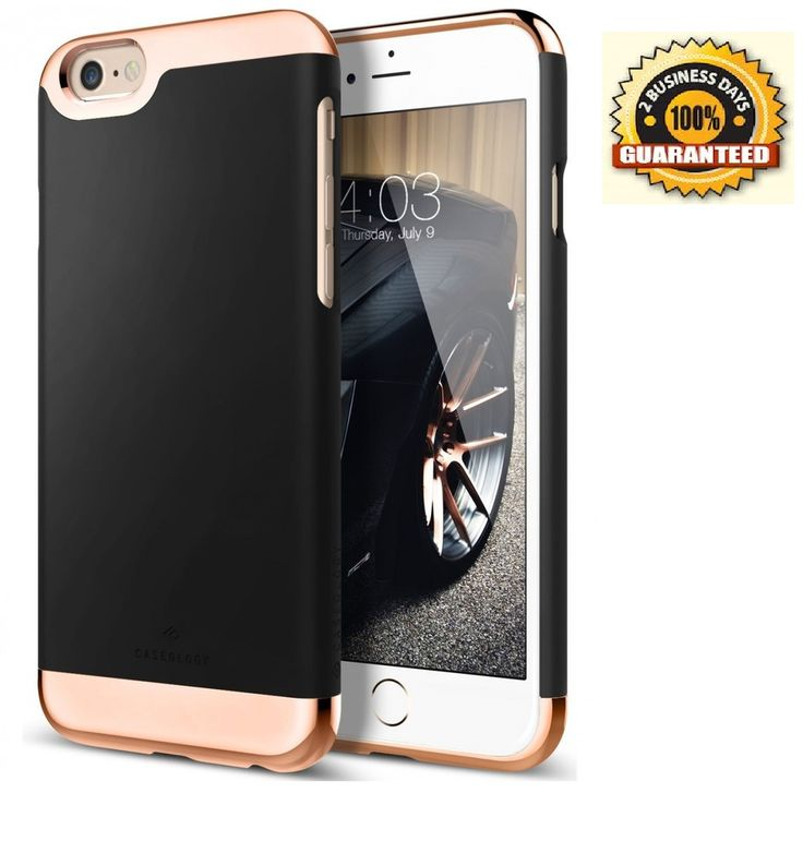 iPhone 6S Plus Case, [Savoy Series] Slim Two-Piece Slider [Black] [Chrome Free  #Caseology