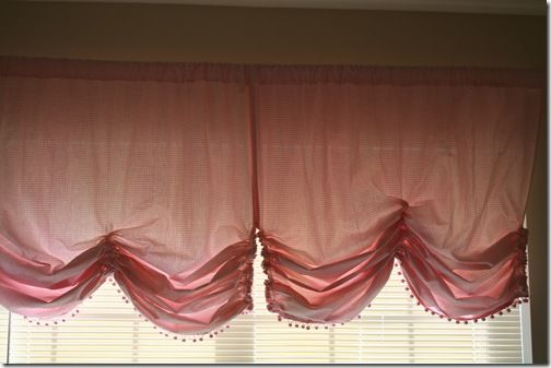 Love this curvy, girly shape! This is the shape of curtain I am going to make for my daughters room.