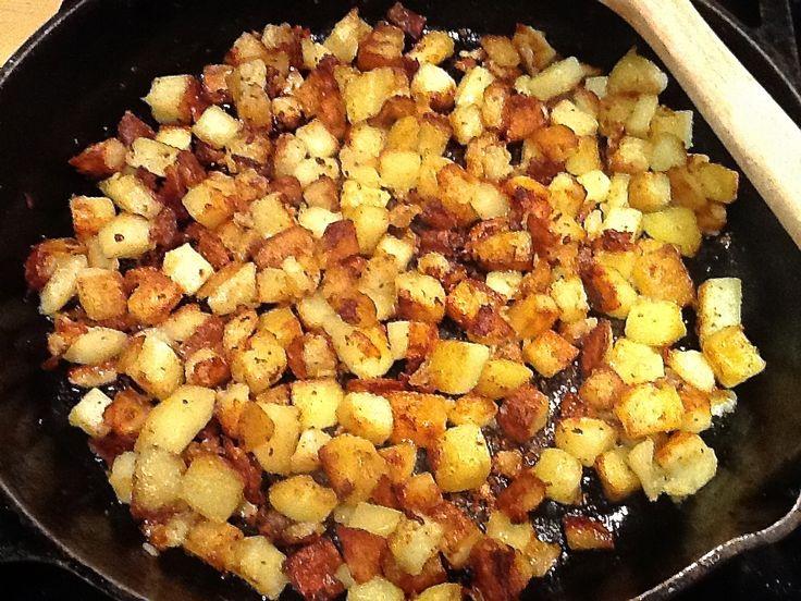 Potatoes on stove top