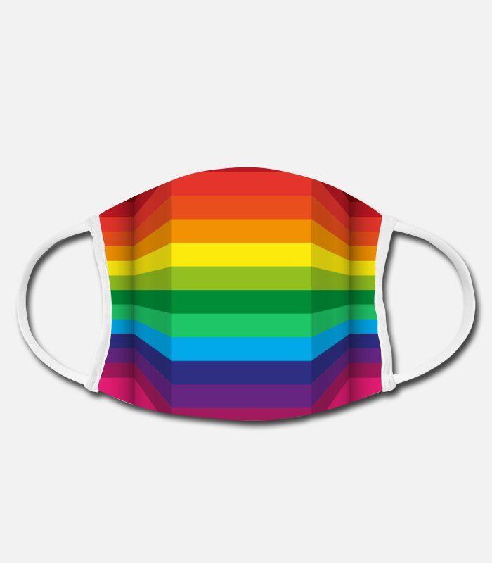 Mundschutz Rainbow Pride Flag Inspiriertes Design mit Regenbogenfarben Liebe gewinnt Geschlecht Freiheit LGBT-Thema Staub waschbar wiederverwendbar und wiederverwendbarer Mund warmes winddichtes Bau