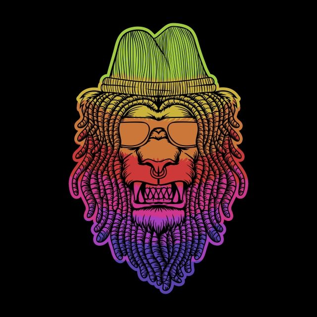 Lion Dreadlocks Colorful Vector Illustration Lion King Clipart Africa African Png And Vector With Transparent Background For Free Download Vector Illustration Watercolor Lion Illustration