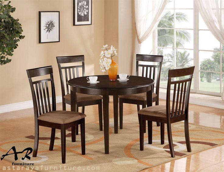 Set Meja Makan Bundar Minimalis Furniture