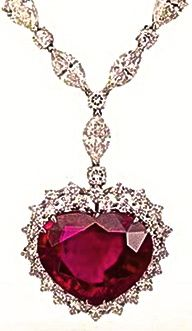 "Garrard's ""Heart of the Kingdom""  Burmese Ruby Pendant- It's the most expensive necklace in the world  ( $  14 million)"